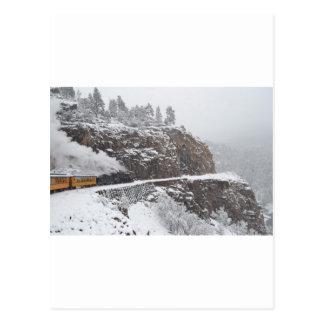 Kaskaden-Schlucht an Bord des polaren drücken aus Postkarte
