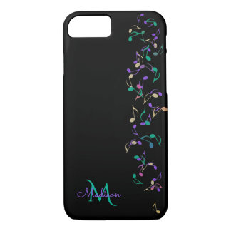 KaskadierenMusiknoten-Monogramm iPhone 7 Fall