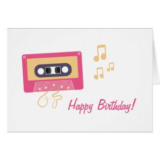 Kassetten-Geburtstag Grußkarte