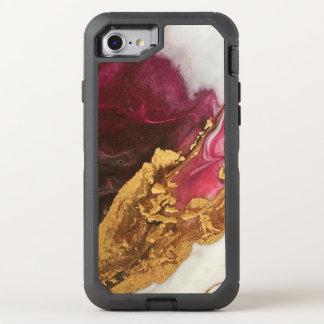 Kastanienbraun und Goldmarmor OtterBox Defender iPhone 8/7 Hülle
