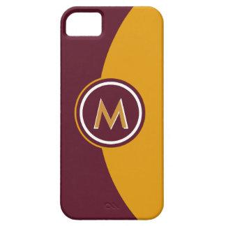 Kastanienbraun und Goldmonogramm iPhone 5 Hüllen