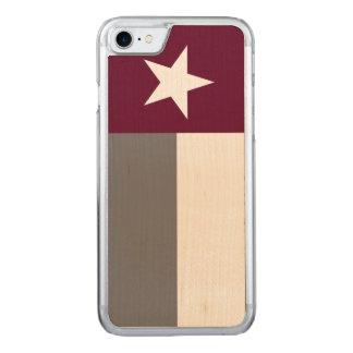 Kastanienbraune Texas-Flagge Carved iPhone 8/7 Hülle