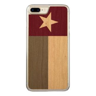 Kastanienbraune Texas-Flagge Carved iPhone 8 Plus/7 Plus Hülle