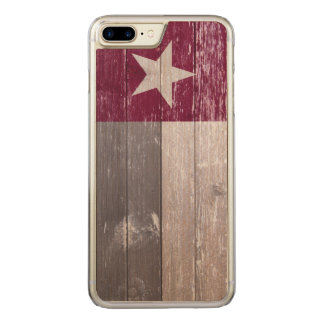 Kastanienbraune Texas-Flagge hölzern gemalt Carved iPhone 8 Plus/7 Plus Hülle