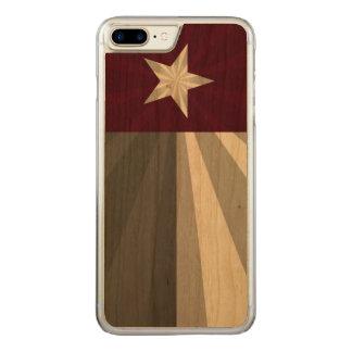 Kastanienbraune Texas-Flaggen-Explosion Carved iPhone 8 Plus/7 Plus Hülle