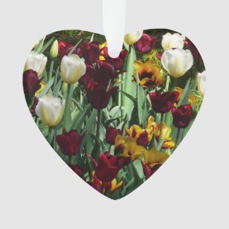 Kastanienbraune und gelbe Tulpe-buntes Blumen Ornament