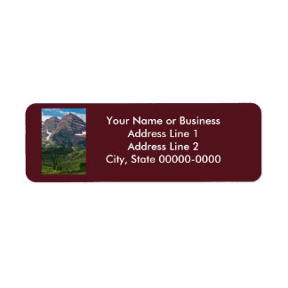 Kastanienbrauner Bell-Rücksendeadresse-Aufkleber Rücksende Aufkleber