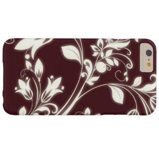 Kastanienbrauner Blumen-Kasten Barely There iPhone 6 Plus Hülle