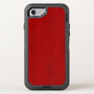 Kastanienbrauner roter hölzerner Korn-Bambusblick OtterBox Defender iPhone 8/7 Hülle