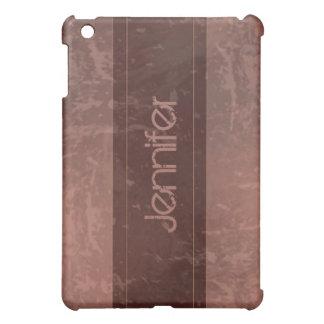 Kastanienbrauner Schmutz-Marmor beunruhigt iPad Mini Hülle