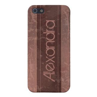 Kastanienbrauner Schmutz-Marmor beunruhigt iPhone 5 Hülle