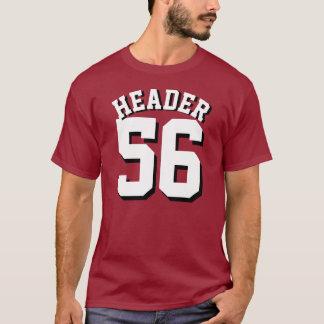 Kastanienbrauner u. weißer Sport-Jersey-Entwurf T-Shirt