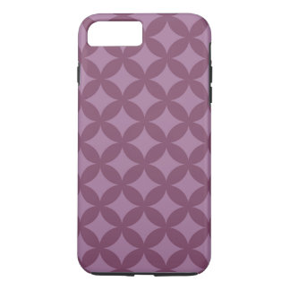 Kastanienbrauner und lila Geocircle Entwurf iPhone 8 Plus/7 Plus Hülle