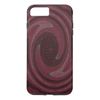 Kastanienbraunes kreisförmigesabstraktes iPhone 8 plus/7 plus hülle