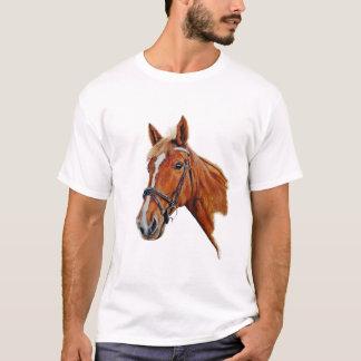 Kastanienstute mit weißer Flamme. Malen T-Shirt