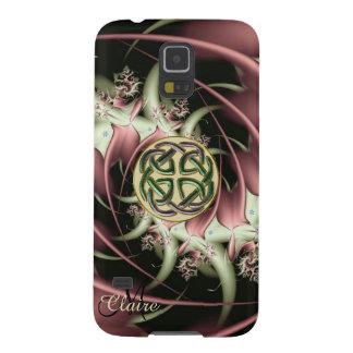 Kasten der Monogramm-BronzeFraktal-keltischer Galaxy S5 Cover