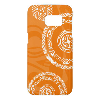Kasten der Tatou Fall-orange Galaxie-S7 kaum dort