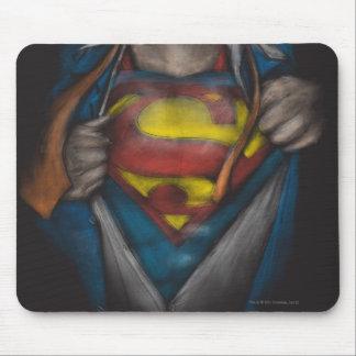 Kasten des Supermann-  decken Skizze Colorized auf Mauspad