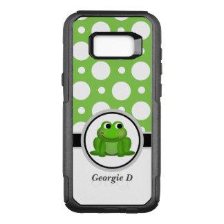 Kasten Froggy-grüner Tupfen-Samsung-Galaxie-S8 OtterBox Commuter Samsung Galaxy S8+ Hülle