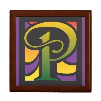 Kasten mit Buchstaben P Erinnerungskiste