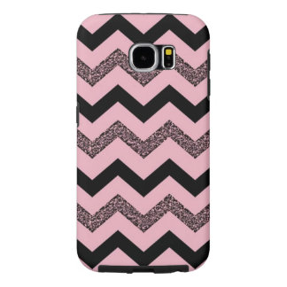 Kasten rosa Glitter-Zickzack Samsungs-Galaxie-S6