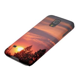 Kasten-Rosa-Sonnenuntergang Samsung-Galaxie-S5 in Samsung S5 Hülle
