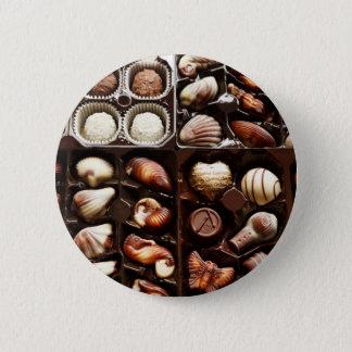 Kasten Schokolade Runder Button 5,1 Cm