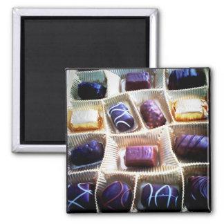 Kasten Schokoladen Quadratischer Magnet