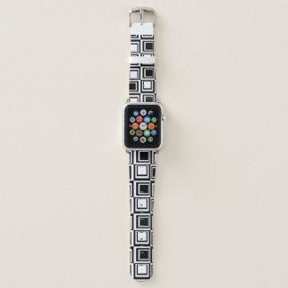 Kasten-Schwarz-weißes Apple-Uhrenarmband Apple Watch Armband