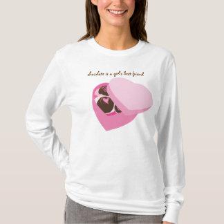 Kasten von Schokoladen-DamenHoodie T-Shirt