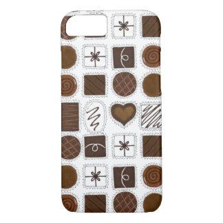Kasten von Schokoladen-Valentinstag Chocoholic iPhone 8/7 Hülle