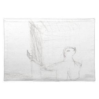 Kastenschildkrötewürfel, der Eliana zeichnet Stofftischset