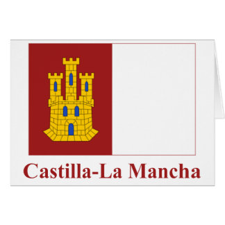 Kastilien-La Mancha Flagge mit Namen Karte