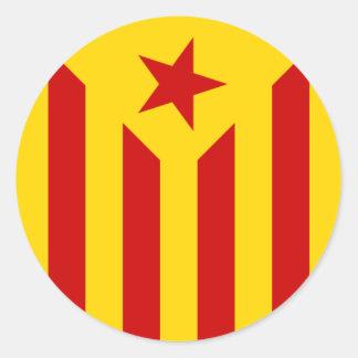 Katalanischer Flaggenaufkleber Runder Aufkleber