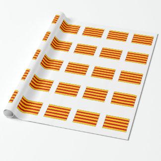 Katalonien-Flagge Spanien Geschenkpapier