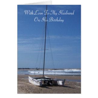 Katamaran-Ehemann-Geburtstag Karte