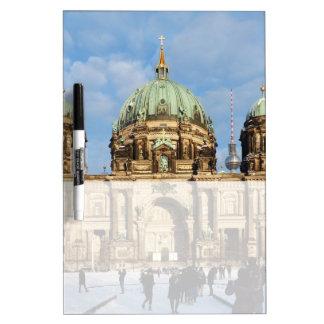 Kathedrale Snowy Berlin Trockenlöschtafel