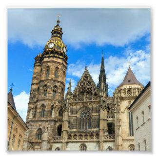 Kathedrale St. Elisabeth in Kosice, Slowakei Fotodruck