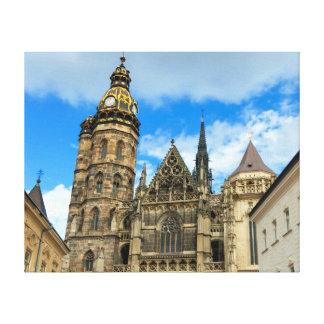 Kathedrale St. Elisabeth in Kosice, Slowakei Gespannter Galerie Druck