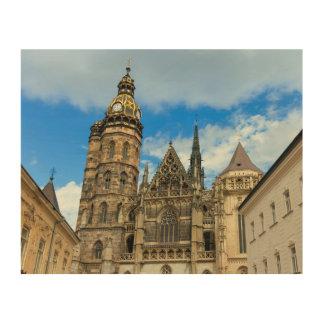 Kathedrale St. Elisabeth in Kosice, Slowakei Holzdrucke