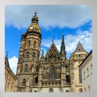 Kathedrale St. Elisabeth in Kosice, Slowakei Poster