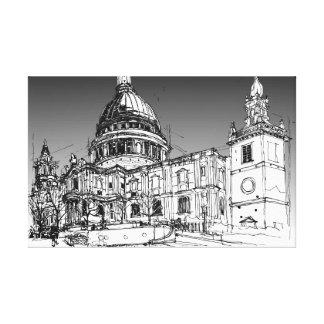 Kathedrale St. Pauls, London. Sturm-Himmel Leinwanddruck