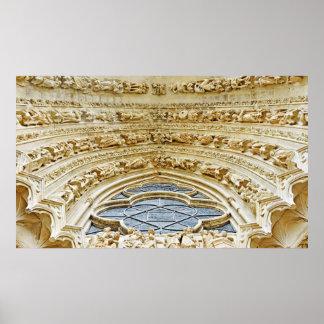 Kathedrale unsere Dame von Reims, Frankreich Poster