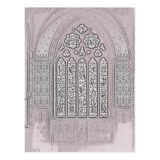 Kathedrale Windows Postkarte