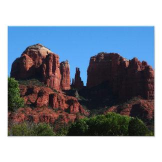 Kathedralen-Felsen in Sedona Arizona Fotodruck
