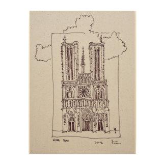 Kathedralen-Notre-Dame de Paris   Ille de la Cite Holzleinwand