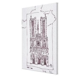 Kathedralen-Notre-Dame de Paris   Ille de la Cite Leinwanddruck