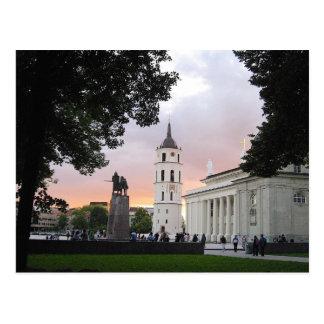 Kathedralen-Quadrat in Vilnius, LITAUEN --- Postkarte