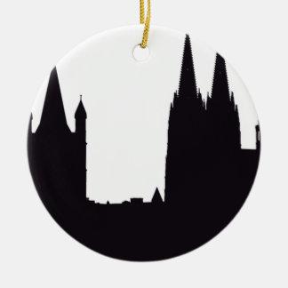 Kathedralen-Silhouette Keramik Ornament