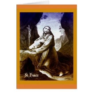 Katholische Karte St Francis von Assisi-Zitat